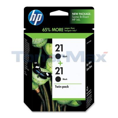 HP NO 21 INKJET PRINT CARTRIDGES BLACK TWIN-PACK